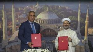 Kültür ve Turizm Bakanlığı ile Diyanet İşleri Başkanlığı arasında 'Ayasofya' protokolü imzalandı
