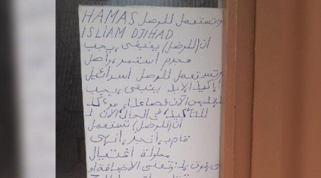 Apartmanın girişine yazılan Arapça yazı olay olmuştu! İnceleme başlatıldı