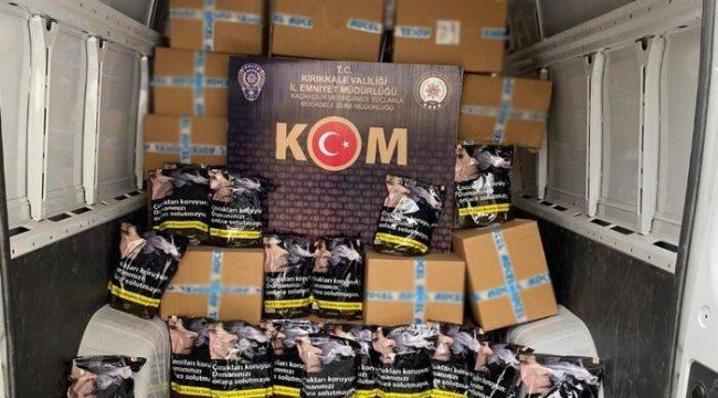 Kırıkkale'de 1 ton kaçak tütün ele geçirildi