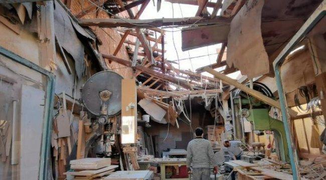 Lodos nedeniyle iş yerinin çatısı çöktü