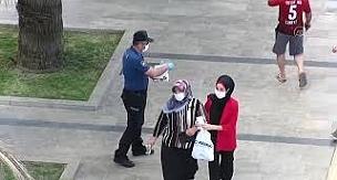 Maske takmayanlar drone ile tespit